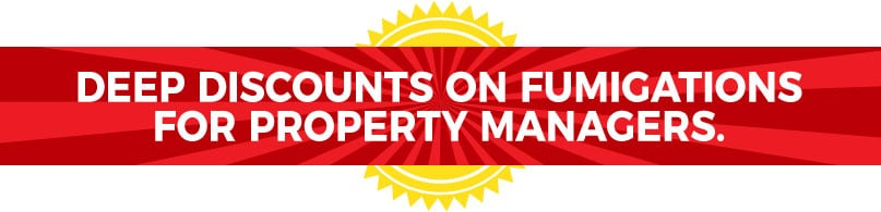 Deep Discounts On Fumigations for Property Managers.