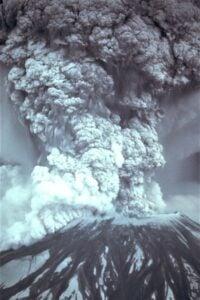 volcano-mount-st-helens-exploding-b-w